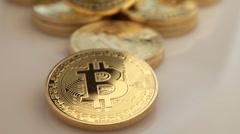 Bitcoins 24P Stock Footage