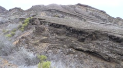 Stock Video Footage of Desert Galapagos Islands Fall Rocky Arid Dry San Cristobal Pan