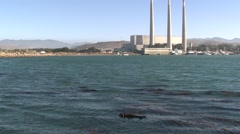 Sea Otter Adult Lone Sleeping Winter Industry Power Plant - stock footage