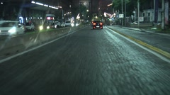 Catania City Night Time driving. Southern Europe, Isle of Sicily. N 00084 Stock Footage