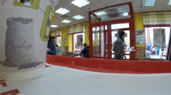 Fast food restaurant Mc'Donalds, Ufa Russia, Stock Footage