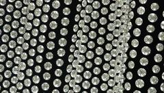 Loopable waving material with diamonds or gems. Alpha - stock footage