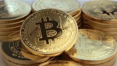 Bitcoins 25P Stock Footage