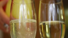 drink poured into a glass - stock footage