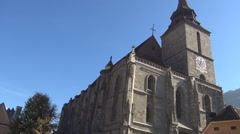 Black Church, view with building including medieval clock tower. - stock footage