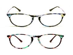 Eye glasses isolated on a white background Stock Photos