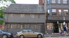 Paul Revere House Exterior Boston Stock Footage