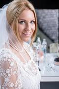 Stock Photo of beautiful bride during a big day