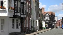 Merchant and tudor house on bugle street, southampton, england Stock Footage