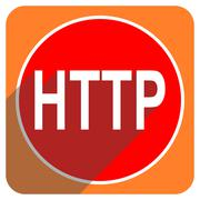 http red flat icon isolated. - stock illustration