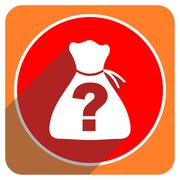Riddle red flat icon isolated. Stock Illustration