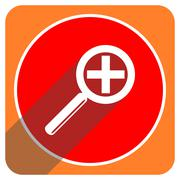 Lens red flat icon isolated. Stock Illustration