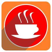 espresso red flat icon isolated. - stock illustration