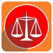 Justice red flat icon isolated. Stock Illustration