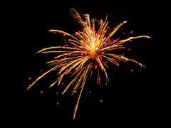USA, Arizona, Apache, Alpine, Fireworks display on Independence Day Stock Photos