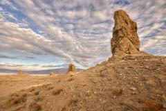 USA, California, Trona, View of Pinnacles National Natural Landmark Stock Photos
