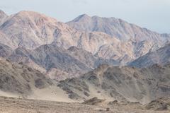 mountain range in leh ladakh, northern india - stock photo