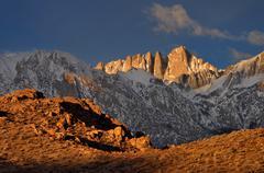 USA, California, Eastern Sierra Nevada, Mount Whitney and Alabama Hills - stock photo