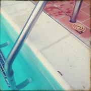 Railing on swimming pool - stock photo