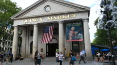 Quincy Market Boston Stock Footage