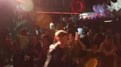 Glastonbury Festival Revellers Stock Footage