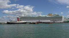 P&o azura cruise ship moored in southampton, england Stock Footage