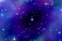 Abstract star sky nebula Stock Illustration