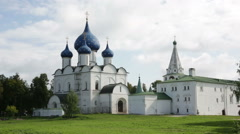 Nativity Cathedral of the Suzdal Kremlin, Golden Ring, Russia Stock Footage