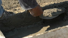 Closeup of box with cement Stock Footage