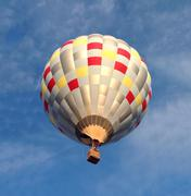USA, Texas, Brewster County, Alpine, Hot air balloon ride Stock Photos