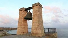 Bell of Chersonesos at sunrise, Sevastopol, Crimea Stock Footage