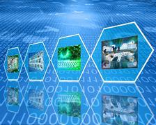 cell digital data - stock illustration