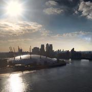 United Kingdom, London, View of O2 Arena - stock photo