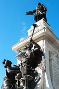Samuel de champlain statue in old quebec, quebec, canada Stock Photos