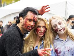 montreal, quebec, canada - october 25 - montreal zombie walk. a zombie walk i - stock photo