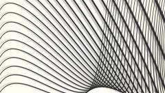 Slow moving black and white light waves abstract motion background Stock Footage