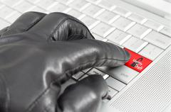 On-line identity theft concept Stock Photos