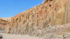 Basalt columns formation namibia uhd 4k Stock Footage