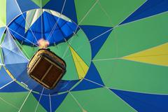 Hot air balloon viewed from below Stock Photos