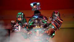 Show the three-meter robot-giant. - stock footage