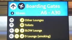 Boarding gate panel flashing Stock Footage