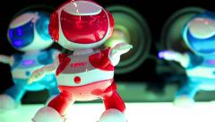 Dancing Robots Tosy DiscoRobo. Stock Footage