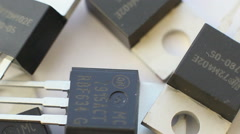 Rotation Transistors Stock Footage