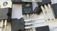 Rotation Transistors 2 - stock footage