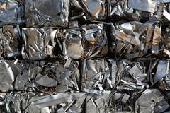 Compressed packages scrap of metal Stock Photos