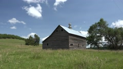 History Newcastle Summer Old Farmstead Green Grass Blue Sky - stock footage