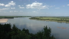 River & Stream Ponca State Park Summer Missouri River Floodplain Agriculture Stock Footage