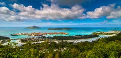 Seychelles, Victoria, Picture of tourist resort - stock photo
