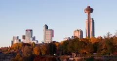 Canadian side at Niagara Falls 4k Stock Footage