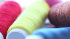 Colored Threads Stock Footage